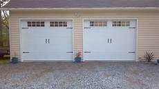 2 garage doors vs 2 single garage doors with hardware 2 pineville nc a