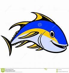 Yellow Fin Tuna Swimming Stock Vector Illustration Of