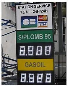 Affichage Prix Carburants