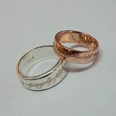 custom elvish engraved rosegold rings