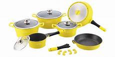 swiss koch kitchen collection royalty line rl es1014m marble coating cookware set 14