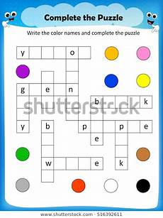 colors crossword worksheets 12726 vector de stock libre de regal 237 as sobre worksheet complete crossword puzzle colors