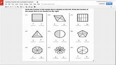 fraction worksheets shaded unshaded 4095 shaded and unshaded fractions