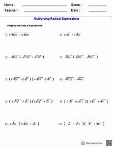 multiplication expressions worksheet 4394 multiplying radical expressions worksheets radical expressions
