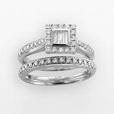 14k white gold 1 2 ct t w diamond ring jewelry