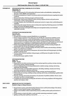 it recruiter resume for 1 year experience best resume