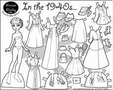 paper doll coloring pages 17642 in the 1940s paper doll coloring page paper thin personas