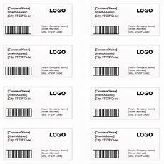 shipping label template word templates for free download