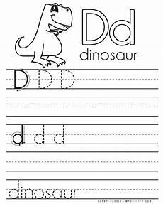 letter practice d worksheets dorky doodles