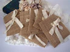 rustic burlap wedding favor gift bag by twiningvines etsy