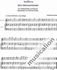 weihnachtslieder 10 f 252 r altblockfl 246 te und klavier