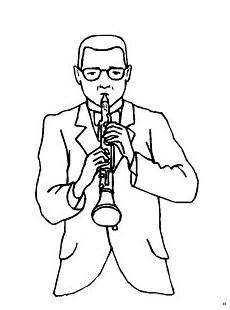 Kostenlose Malvorlagen Oboe Mann Mit Oboe Ausmalbild Malvorlage Musik