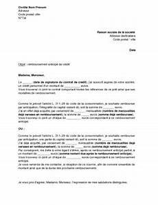 remboursement anticipé pret auto lettre de remboursement anticip 233 d un cr 233 dit personnel