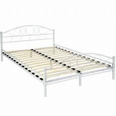 metallbett mit lattenrost 140x200 letto metallo con rete struttura matrimoniale
