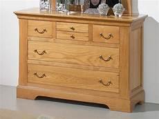 commode rustique en bois massif silver 5 tiroirs