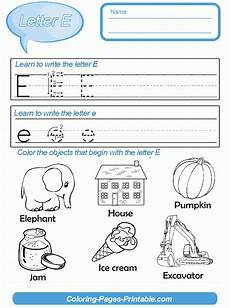 free worksheets letter e 24617 kindergarten letter writing template coloring pages printable