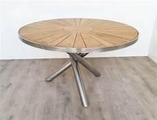 Gartentisch Teak Rund - aks everest tisch rund teak 130x176 cm natur mit