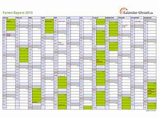 Schulferien Bayern 2013 Ferienkalender Zum Ausdrucken