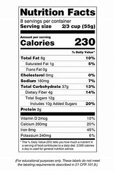 reading nutrition facts labels efnep expanded food and