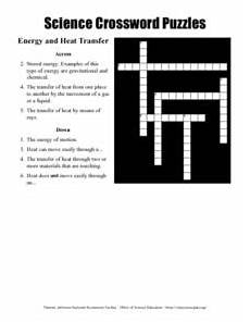 physical science heat transfer worksheet 13199 science crossword puzzles energy and heat transfer worksheet for 9th 10th grade lesson planet