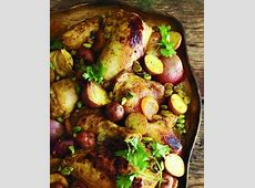 moroccan roast chicken with saffron  hazelnuts  and honey_image