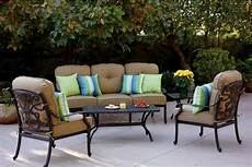 patio furniture deep seating cast aluminum 5pc santa