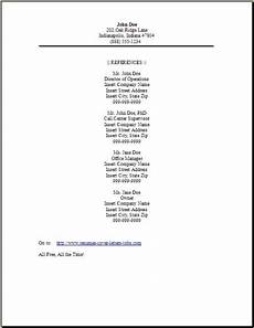 resume reference page reference page for resume resume references resume exles