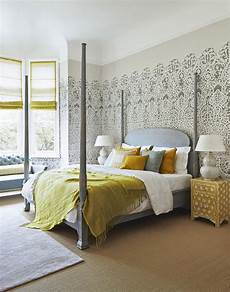 Yellow And Grey Wallpaper Bedroom Ideas by Make Your Bedroom Gorgeous With Wallpaper The Room Edit