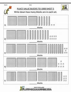 math place value worksheets for 2nd grade 5492 place value blocks with 3 digit number