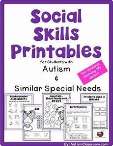 social skills printables fo by autism classroom teachers pay teachers