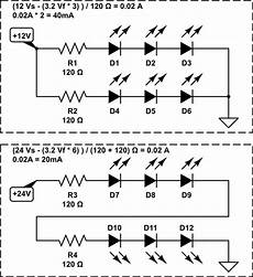 schematic led strip current serial chaining of led strips electrical