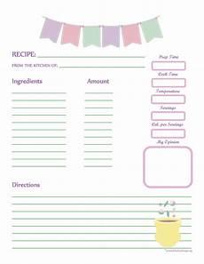recipe card book template fabric bunting recipe card page printable recipe