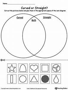 sorting venn diagram worksheets 7776 venn diagram shapes curved or the o jays lines and children