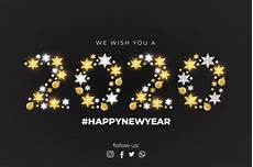 we wish you a happy new year card template vector free download