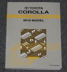 2010 toyota corolla electrical wiring diagram service manual ebay