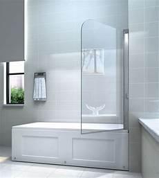 Duschtrennwand Badewanne Glas - 6mm glas duschwand f 252 r badewannen badewannenaufsatz