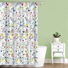 Floral Shower Curtains fiore multi color floral print fabric shower curtain 70 quot x