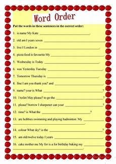 svo sentences worksheets kids activities