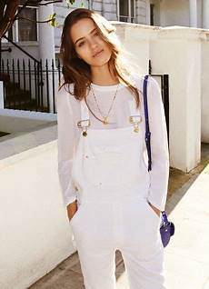 ways to wear white overalls 2019 fashiongum