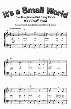 it s a small world easy piano sheet music guitar chords walt disney easy sheet music