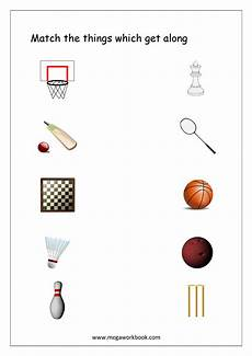 sports related worksheets 15870 things that go together worksheets free printables megaworkbook