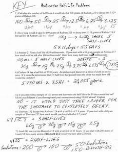 half life calculation worksheet half life practice worksheet answers yooob db excel com