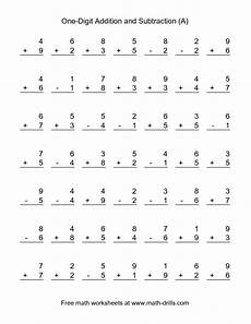 math single digit addition and subtraction worksheet combined addition and subtraction worksheet single