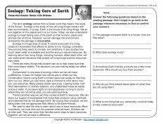 science reading comprehension worksheets 13441 science reading comprehension worksheets middle school pdf