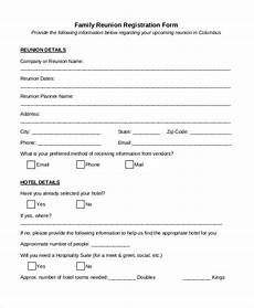 family reunion registration form template free 21 sle registration forms pdf