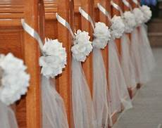 diy decorate church pews with tulle for a wedding ebay