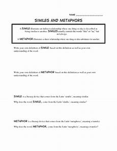 17 best images of simile poem worksheets simile worksheet family metaphor poems exles and
