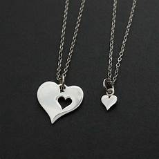 Mutter Tochter Kette - two hearts necklace 925 sterling silver