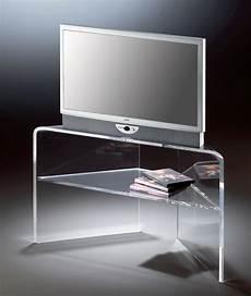 tv tisch glas hochwertiger acryl glas tv eck tisch tv eck rack klar