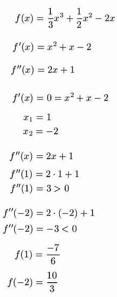 extremstellen berechnen formeln beispiele tipps